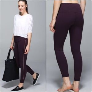 Lululemon black cherry high times leggings